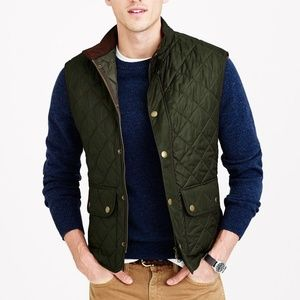 Barbour Green Quilted Vest
